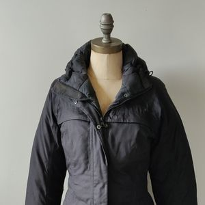 Down filled North Face women's long puffer coat